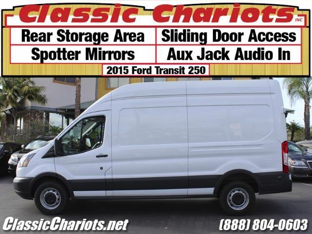 sold used commercial vehicle near me 2015 ford transit 250 cargo van with rear storage. Black Bedroom Furniture Sets. Home Design Ideas
