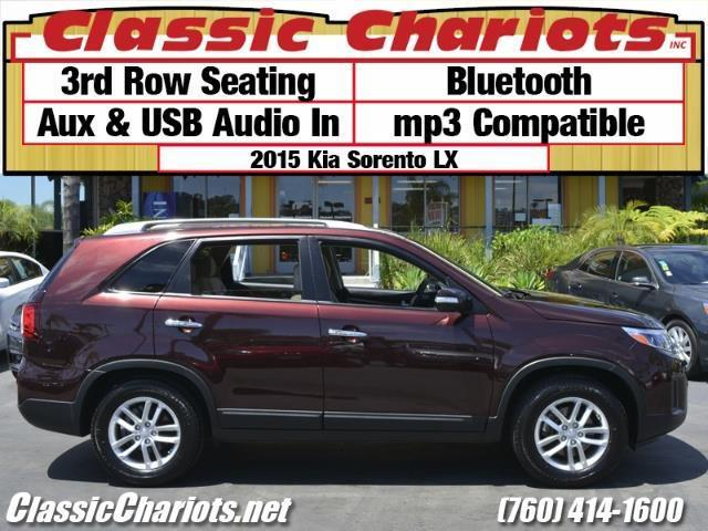 sold used suv near me 2015 kia sorento lx with 3rd row seating bluetooth and usb input. Black Bedroom Furniture Sets. Home Design Ideas