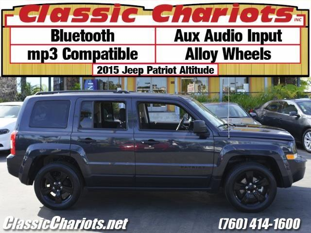 sold used suv near me 2015 jeep patriot altitude with bluetooth aux input alloy wheels. Black Bedroom Furniture Sets. Home Design Ideas