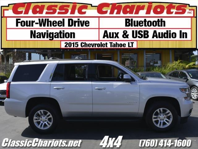 used used family vehicle near me 2015 chevrolet tahoe lt 4x4 with 4wd bluetooth and. Black Bedroom Furniture Sets. Home Design Ideas