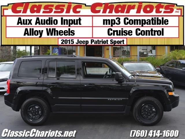 sold used suv near me 2015 jeep patriot sport with aux input alloy wheels and cruise. Black Bedroom Furniture Sets. Home Design Ideas