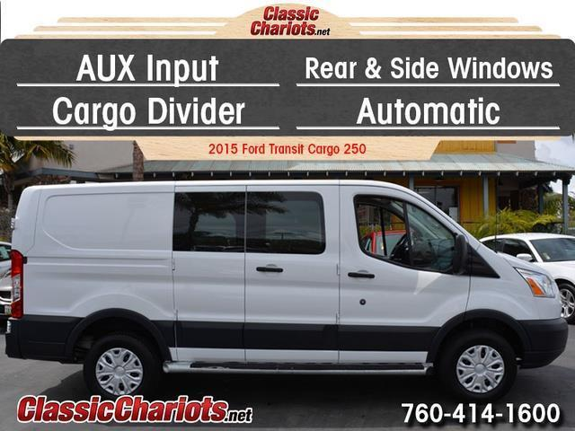 used passenger van near me 2015 ford transit cargo 250 with cargo divider automatic and aux. Black Bedroom Furniture Sets. Home Design Ideas