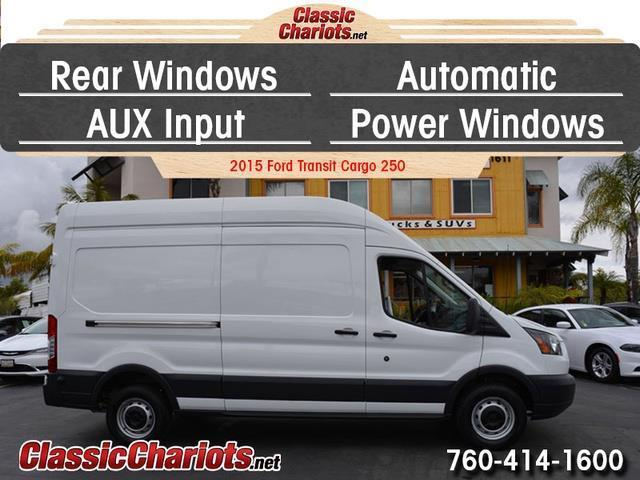 sold used cargo van near me 2015 ford transit cargo 250 high roof with rear windows. Black Bedroom Furniture Sets. Home Design Ideas