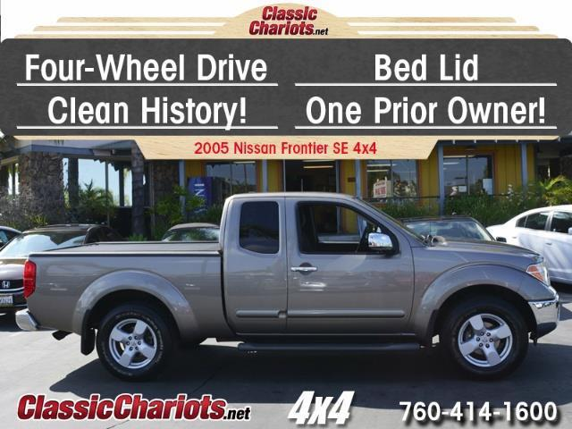 sold used truck near me 2005 nissan frontier le king cab 4x4 with 4wd bed lid clean. Black Bedroom Furniture Sets. Home Design Ideas