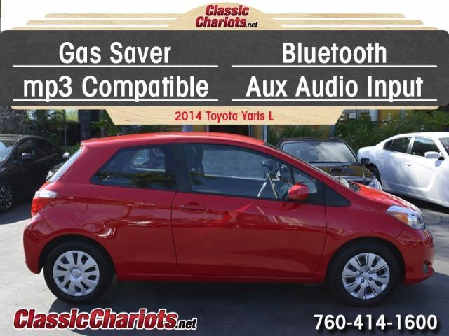 sold used car near me 2014 toyota yaris 3 door l with gas saver bluetooth and aux input. Black Bedroom Furniture Sets. Home Design Ideas