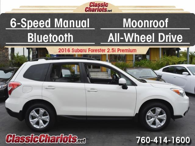 used suv near me 2016 subaru forester premium with 6 speed manual moonroof and. Black Bedroom Furniture Sets. Home Design Ideas