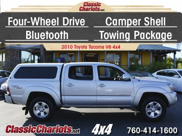 sold used truck near me 2010 toyota tacoma v6 4x4 with camper shell bluetooth and tow. Black Bedroom Furniture Sets. Home Design Ideas