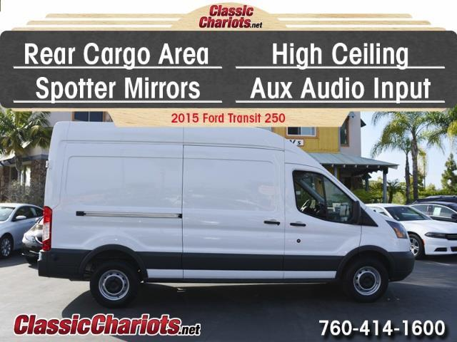 used commercial vehicle near me 2015 ford transit 250 high roof cargo van with rear cargo area. Black Bedroom Furniture Sets. Home Design Ideas