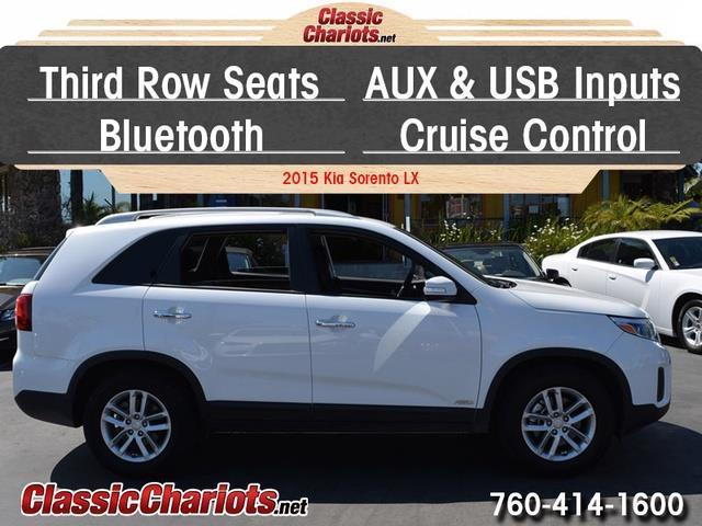 sold used suv near me 2015 kia sorento lx awd with 3rd row seats usb input and bluetooth. Black Bedroom Furniture Sets. Home Design Ideas