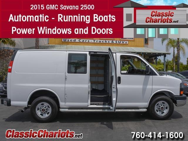 used commercial vehicle near me 2015 gmc savana 2500 with automatic running boards and power. Black Bedroom Furniture Sets. Home Design Ideas
