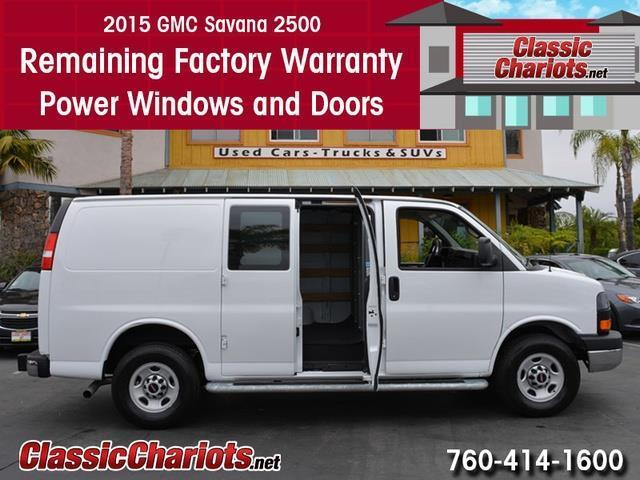 sold used cargo van near me 2015 gmc savana 2500 with remaining factory warranty for sale. Black Bedroom Furniture Sets. Home Design Ideas