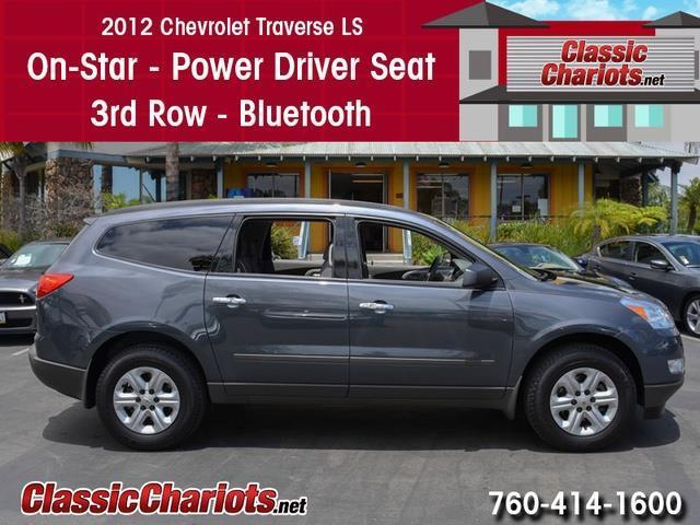 sold used suv near me 2012 chevrolet traverse ls with on star 3rd row and bluetooth for. Black Bedroom Furniture Sets. Home Design Ideas
