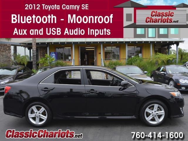 sold used car near me 2012 toyota camry se with bluetooth moonroof and usb input for sale. Black Bedroom Furniture Sets. Home Design Ideas