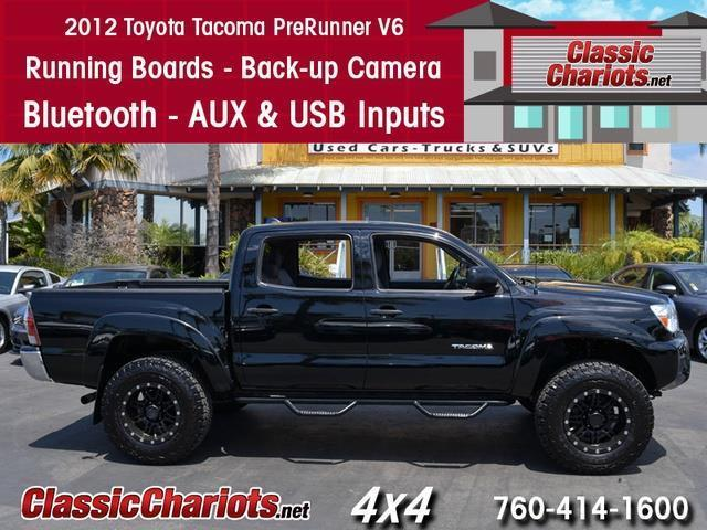 used truck near me 2012 toyota tacoma prerunner v6 with running boards back up camera and. Black Bedroom Furniture Sets. Home Design Ideas