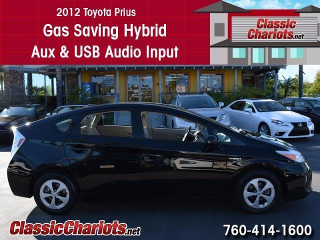 used car near me 2012 toyota prius with hybrid and usb input for sale in san diego stock. Black Bedroom Furniture Sets. Home Design Ideas