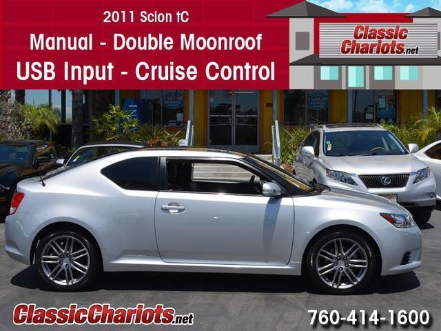 sold used car near me 2011 scion tc with manual transmission double moonroof and usb. Black Bedroom Furniture Sets. Home Design Ideas