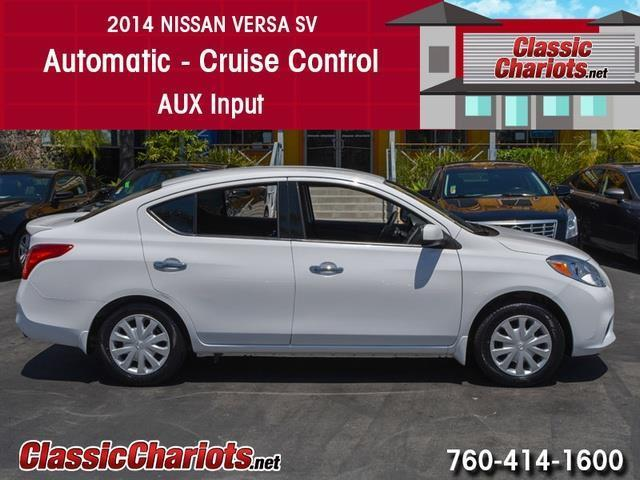 sold used car near me 2014 nissan versa 1 6 sv with automatic cruise control and aux input. Black Bedroom Furniture Sets. Home Design Ideas