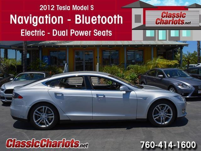 sold used car near me 2012 tesla model s with navigation bluetooth and electric for sale. Black Bedroom Furniture Sets. Home Design Ideas