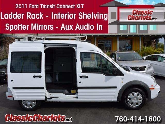 sold used 2011 ford transit connect cargo van xlt with ladder rack aux input and spotter. Black Bedroom Furniture Sets. Home Design Ideas