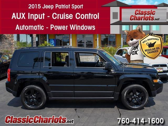 used suv near me 2015 jeep patriot sport altitude edition with aux input and power windows. Black Bedroom Furniture Sets. Home Design Ideas