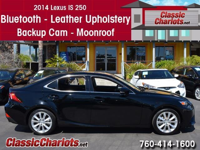 Used Car Near Me - 2014 Lexus IS 250 with Bluetooth, Leather Upholstery, Back-up Camera and Moonroof for Sale in San Diego - Stock # 13947