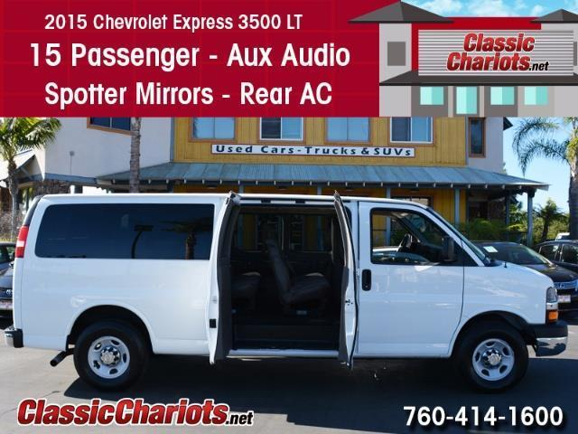 Used Passenger Van Near Me - 2015 Chevrolet Express 3500 LT 15 Passenger with 15 Passenger, AUX Input for Sale in San Diego - Stock # 13934R