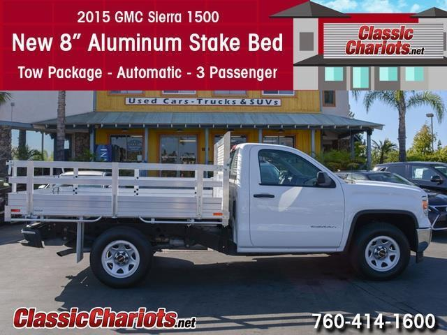 used car near me 2015 gmc sierra 1500 with new 8 39 39 aluminum stake bed for sale in san diego. Black Bedroom Furniture Sets. Home Design Ideas