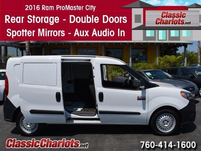 sold used passenger van near me 2016 ram promaster city with rear storage double door and. Black Bedroom Furniture Sets. Home Design Ideas