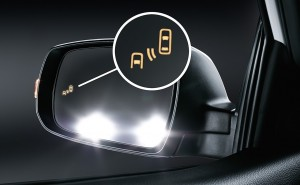 The blind spot detection helps you see behind you without craning around.