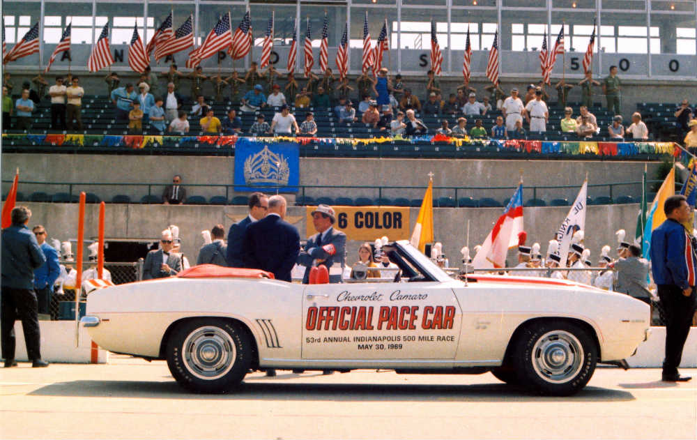 1967 Chevy Camaro pace car at the Indy 500