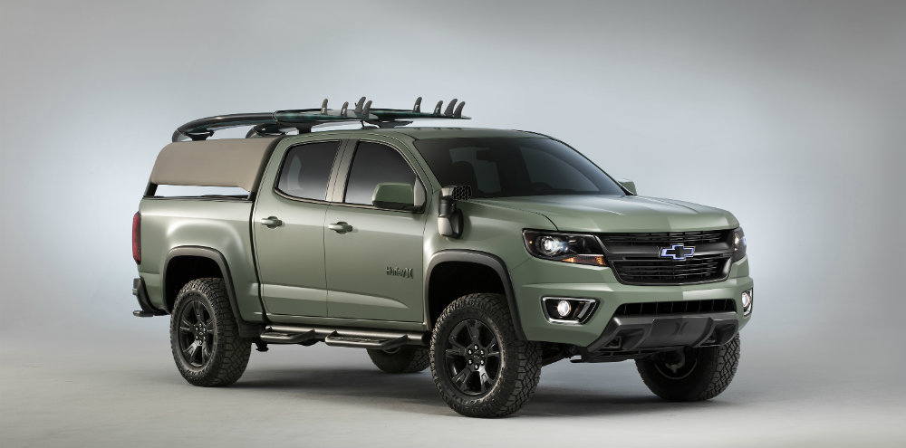 surfer-optimized Chevy Colorado Z71 Hurley Concept at SEMA 2016