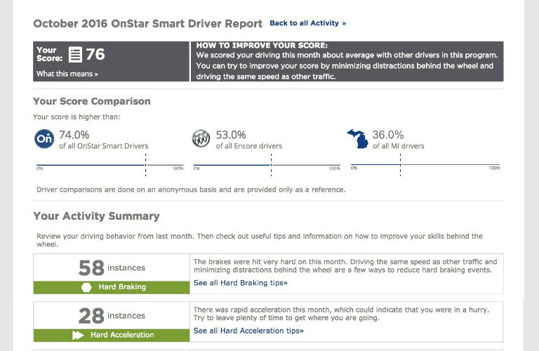 How to enroll in OnStar Smart Driver