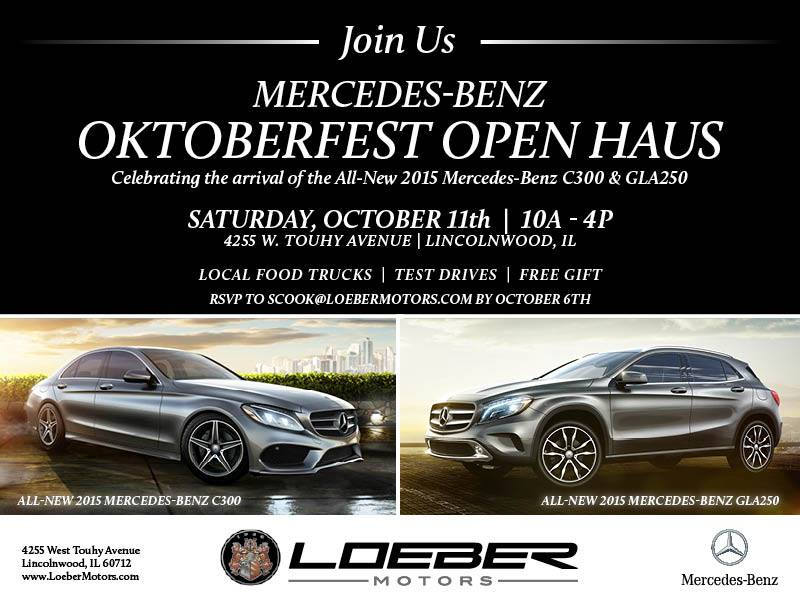 Loeber Motors To Host Mercedes Benz Oktoberfest Open Haus