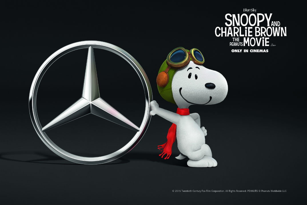 Snoopy With Mercedes-Benz Logo
