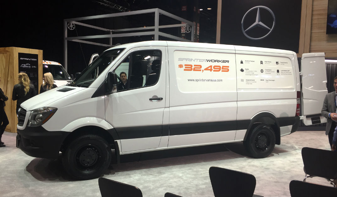 2017 Mercedes-Benz Sprinter Worker Van Chicago Auto Show