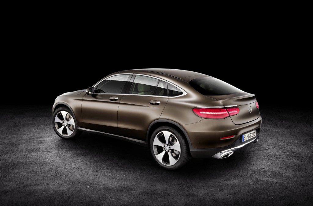 2017 Mercedes-Benz GLC Coupe Rear Three quarters