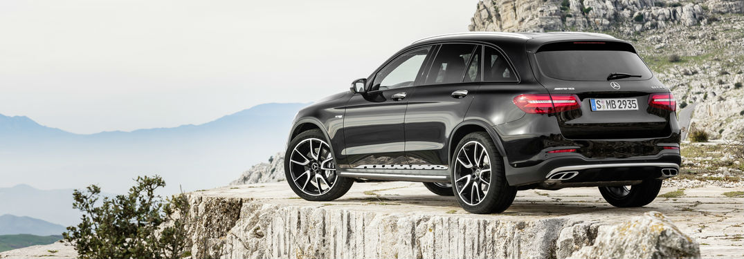 2017 Mercedes-AMG GLC43 Specs and Features at Loeber Motors-Chicago IL-Black 2017 Mercedes-AMG GLC43 Rear Exterior