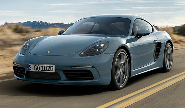 2017 Porsce 718 Cayman flat-four turbocharged engine
