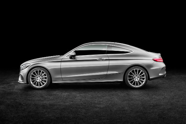 2017 Mercedes-Benz C-Class Coupe Side View