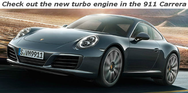 check out the new turbo engine in the 911 carrera