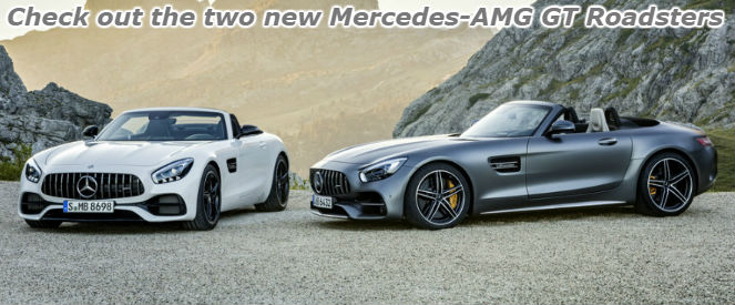 check out the two new mercedes-AMG gt roadsters