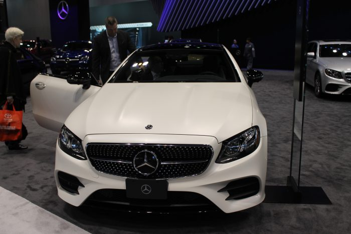 MercedesBenz EClass Coupe At The Chicago Auto Show - Mercedes benz car show