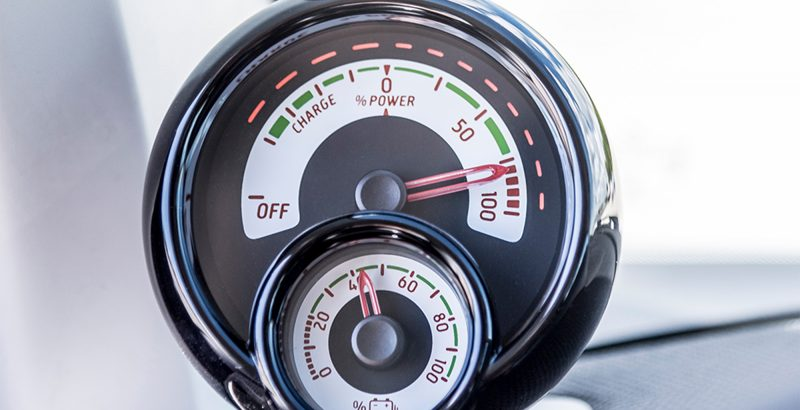 2017 smart fortwo electric drive power gauge