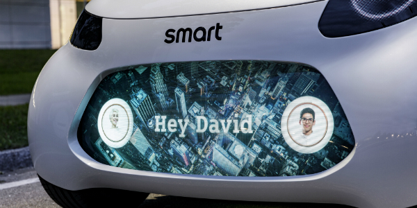Autonomous Smart Car Concept Customer Communication