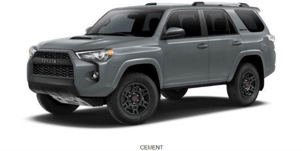 what are the 2017 toyota 4runner exterior color options. Black Bedroom Furniture Sets. Home Design Ideas