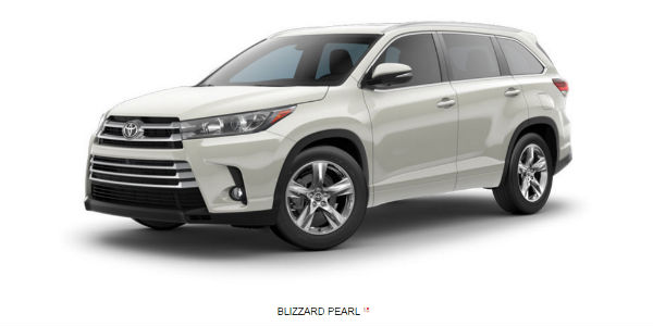 Gallery of 2017 Toyota Highlander Color Options