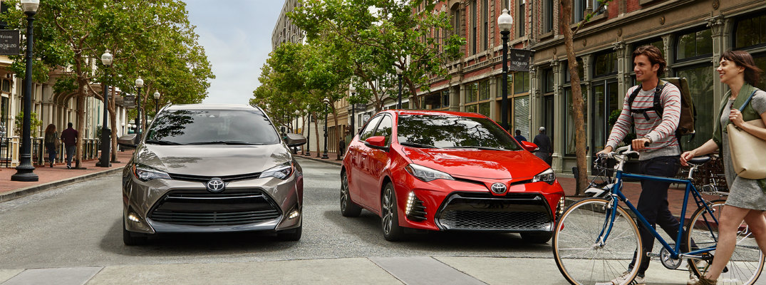 How many trims levels are there for the 2017 Toyota Corolla?