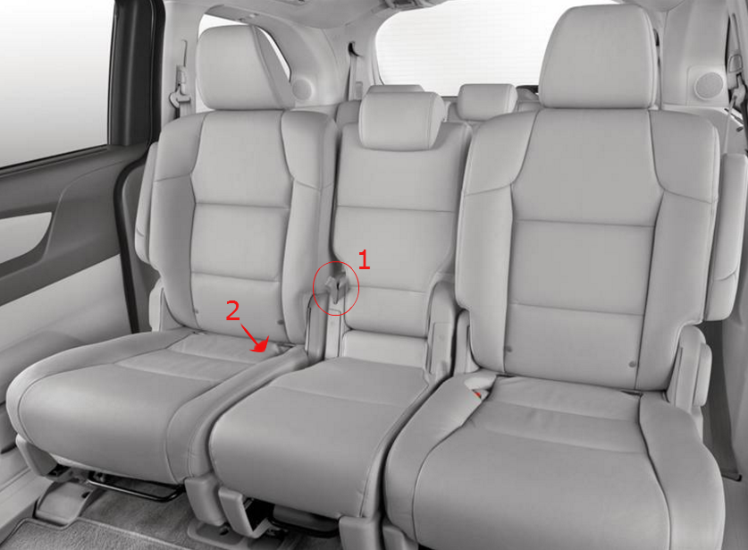 how to remove second row seats in the 2016 honda odyssey. Black Bedroom Furniture Sets. Home Design Ideas