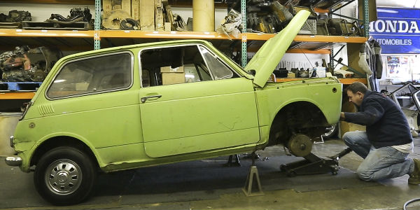 Honda Serial One Before Restoration with Hood Open