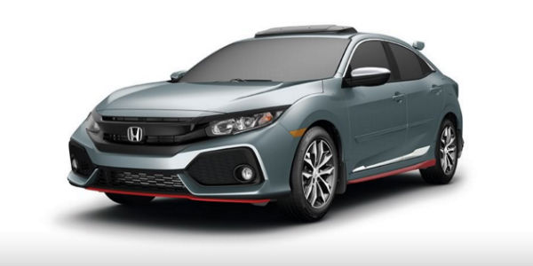 honda civic hatchback with accessory kits equipped